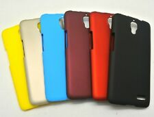 Black Hard Rubber Shell Coated Case Cover for Alcatel One Touch Idol OT 6030D