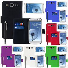 PORTEFEUILLE COQUE ETUI HOUSSES SIMILI CUIR SAMSUNG GALAXY S3 I9300 + FILMS