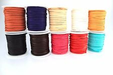 """Deerskin Deer Leather Lace Spool Roll 1/8"""" 3MM x 50 FT Craft Lacing Cord String"""