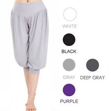 Fashion 95% Bamboo Fabric Sports Clothes Soft Women's yoga pants loose bloomers