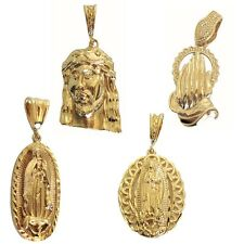18k Gold Filled Jesus Head, Prayer Hands, Lady Of Guadalupe Virgin Mary Pendants