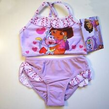 Dora Toddler Kids Girls 2-Piece Swimsuit Swimwear Bathers Tankini Szs XMAS GIFT