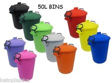COLOURED BIN 50L LITRE / DUSTBIN / RUBBISH BIN / WASTE RECYCLE CHILDRENS BEDROOM