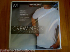 Kirkland Men's White T-Shirts Crew Neck - 6 Pack - NEW - Size M, L, XL, XXL
