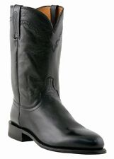 LUCCHESE Since 1883 M1010.C2 BLACK MENS ROPER BOOTS LONE STAR CALFSKIN WESTERN