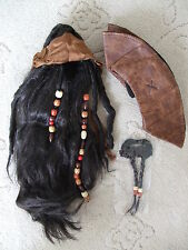 Pirate of Caribbean Deluxe Jack Sparrow Wig w/ Beads, Bandana, Moustache & Hat