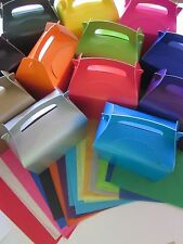 GIFT BOX AND 2 TISSUE PAPER FOOD FAVOUR PICNIC LUNCH MEAL BOXES - BIRTHDAY PARTY