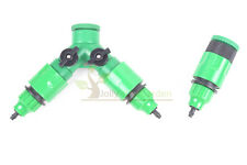 Garden Hose Pipe 1 / 2 Way Adapter Y Tap Connector Fitting Switch For Irrigation