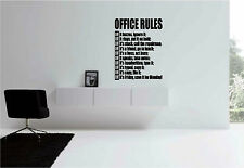 Removable Office Rules Wall Art Decor Decal Vinyl Sticker Mural Text Word Saying