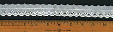 "1"" Vintage White Cotton Eyelet Scalloped Baby Doll Bride Lace Quilt Trim Q167"