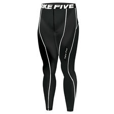 New 025 Winter Warm Skin Tights Compression Base Layer Black Running Pants S-2XL