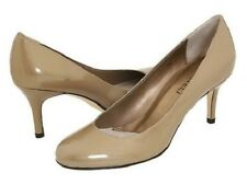 Vaneli Udine Women's Classic Pumps Shiny Patent Leather Shoes Nude Size 10