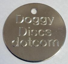 Pet Tags Engraved DOG/CAT ID Disc 20mm/22mm DEEP Computer Engraving-Quality