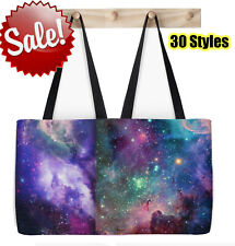 Women Canvas Galaxy Space Universe Way Bucket Beach Tote Nebula Shopping Bag USA