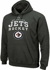 Winnipeg Jets NHL Majestic Enzyme Pullover Hoodie Charcoal Big Sizes