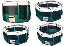 New Dog Pet Cat Playpen Kennel Exercise Pen Crate Fence - Green