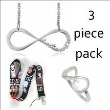 One Direction Directioner Necklace,  Ring - 925 Sterling silver ring