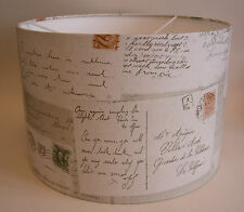 Handmade Lampshades in Neutral 'Travel' Post Cards Design Wallpaper