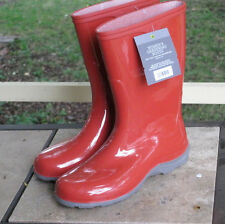 NEW RED women's RAIN BOOTS / GARDEN BOOTS  sizes available:  7