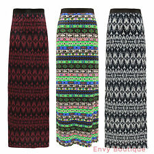 LADIES ELASTICATED WAIST TRIBAL TIE DYE DISCHARGE WOMENS GYPSY LONG MAXI SKIRT