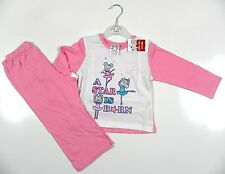 Carefully Made 4 Little People Girls White/Pink 'A Star Is Born' LS Pyjamas BNWT