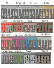 Organza Teardrop beaded trimming fringe 1/2Mtr (16 different Colour ) #1