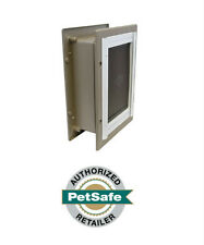PetSafe Wall Dual Entry Aluminium Telescoping Pet Door for Dogs- Large Med Small
