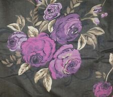 "Purple Black Roses Cushion Cover Matches Next Curtains Bedding 14"" 16"" 18"" 20"""