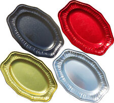 FOIL PARTY PLATTERS RED BLACK GOLD SILVER SERVING PLATTER FOOD SANDWICH CATERING