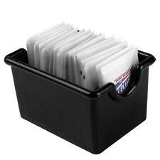 Plastic Sugar Packet Holder Caddy Black White Clear