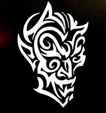 DEMON TRIBAL FACE/ VINYL LAPTOP, CAR, TRUCK WINDOW DECAL STICKER