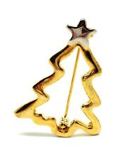 GOLD OR SILVER CHRISTMAS TREE BROOCH BADGE PIN DECORATION CHRISTMAS STAR TREE