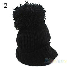 Women's Girl's Winter Slouch Knitting Cap Warm Beanie Crochet Ski Hat Hot B35U