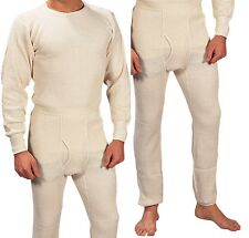 Extra Heavyweight Thermal Knit White Underwear - Long John Winter Clothes