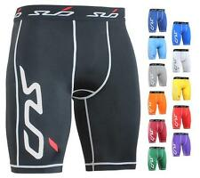 SUB DUAL Kids Compression Shorts - skin tight fit sports & boys baselayer pants