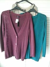 WOMANS LADIES SUPER QUALITY WOOL BLEND CARDIGAN FROM ELLOS LAREDOUTE-CRAZY PRICE
