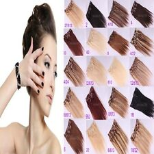 """New 16""""~26"""" Women's Remy 7pcs/10pcs Clip In Real Human Hair Extensions 70g/100g"""