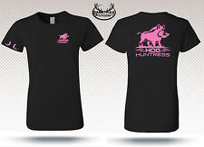 Womens Short Sleeve Hog Hunting t shirt,bow huntress,pink,lady,girl,Gametrax