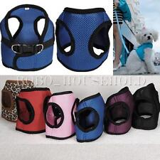 Pet Puppy Dog Cat Soft Mesh Harness Braces Clothes Walking Step In Vest 4 Sizes