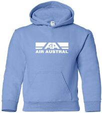 Air Austral Retro Logo French Airline HOODY