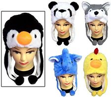 New Wholesale Lot 5 Pcs - Plush Animal Hats For Kids (# EWCK101)