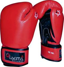 10oz 12oz 16oz Leather Boxing Gloves Fight Punch Bag Kick Gym MMA Muay Sparring