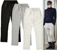 New Mens Quilted Biker Jogging Trouser Cotton Sweatpants Slim Rocky Celebrity