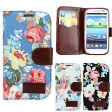 New Flower Leather Flip Stand Wallet Case Cover For Samsung Galaxy SIII S3 I9300