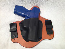 RIGHT Hand draw IWB holster Kydex and leather RH Conceal MTO