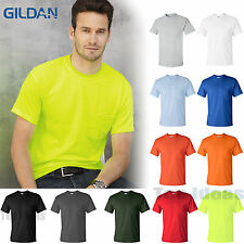 Gildan Mens Size S-XL 2XL 3XL 4XL 5XL Pocket Tees 100% Cotton NEW T-Shirts 2300
