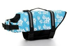 Dog Life Jacket Vest Reflective Chihuahua Toy Teacup Hawaii  BLUE FLOWERS sz XXS