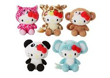 "4-3/4"" x 4"" SANRIO HELLO KITTY SAFARI MASCOT PLUSH"