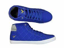 NEW MENS VOI JEANS CANTON HI TOP TRAINERS IN ROYAL BLUE COLOUR ALL SIZES 6-12