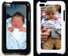 Apple iPod Touch 4th Generation Personalised Custom Photo Case in Black or White